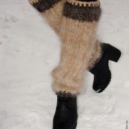 Гетры женские теплые вязанные арт. №23ж из собачьей шерсти