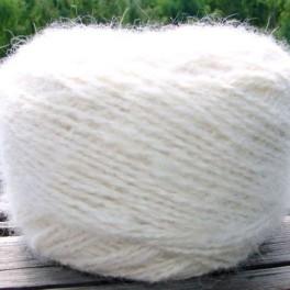 Пряжа «Белый Пушистик white»130метров100грамм из пуха самоеда