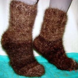 Носки кашемировые зимние толстые вязаные арт. №26м из пуха банхара