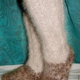 Носки – гольфы зимние толстые вязанные арт. №25м из собачьей шерсти