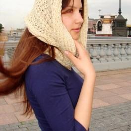 Снуд «Топленое Молоко» шерстяной ручного вязания