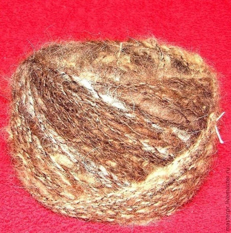 Пряжа «Звезда Тибета» ручного прядения из шерсти тибетского мастифа .