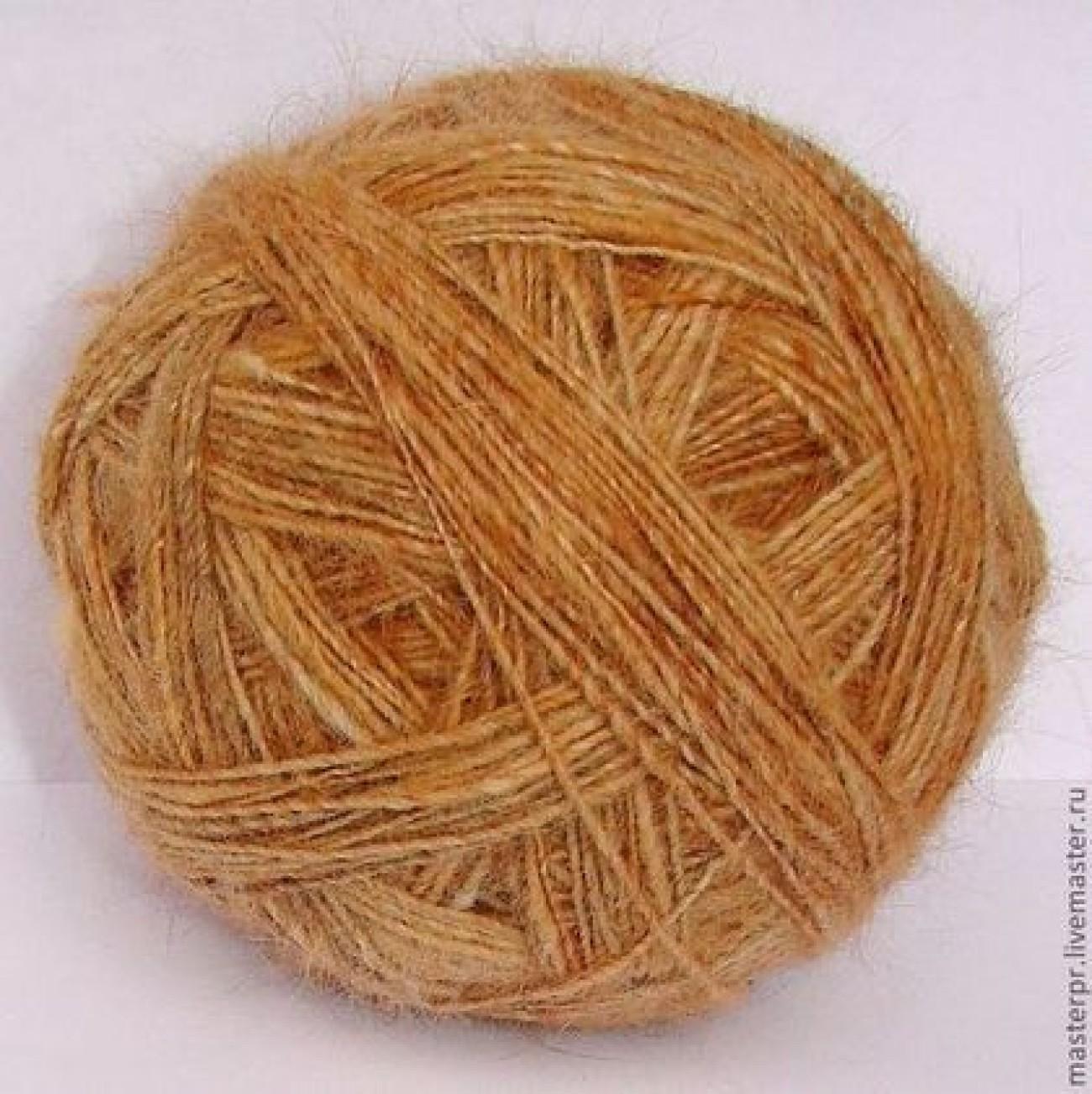Пряжа ручного прядения «Леонбергер» из собачьей шерсти