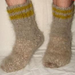Носки пуховые толстые арт№56м из собачьей шерсти
