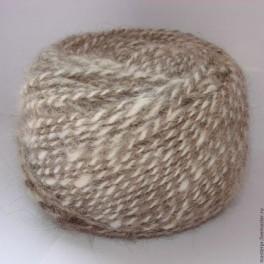 Пряжа «меланж М15» ручного прядения из собачьей шерсти