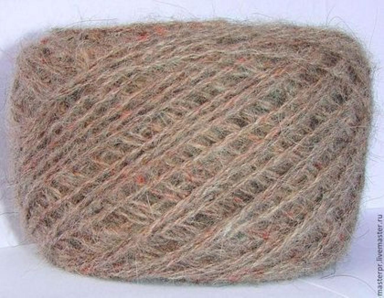 Пряжа «Солнышко3» дизайнерская теплая из собачьей шерсти.