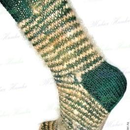 Носки «крокодильчик» спортивные ручного вязания