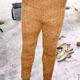 Штаны мужские вязанные арт№05м из собачьей шерсти .