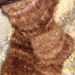 Носки из пуха кавказца очень теплые .