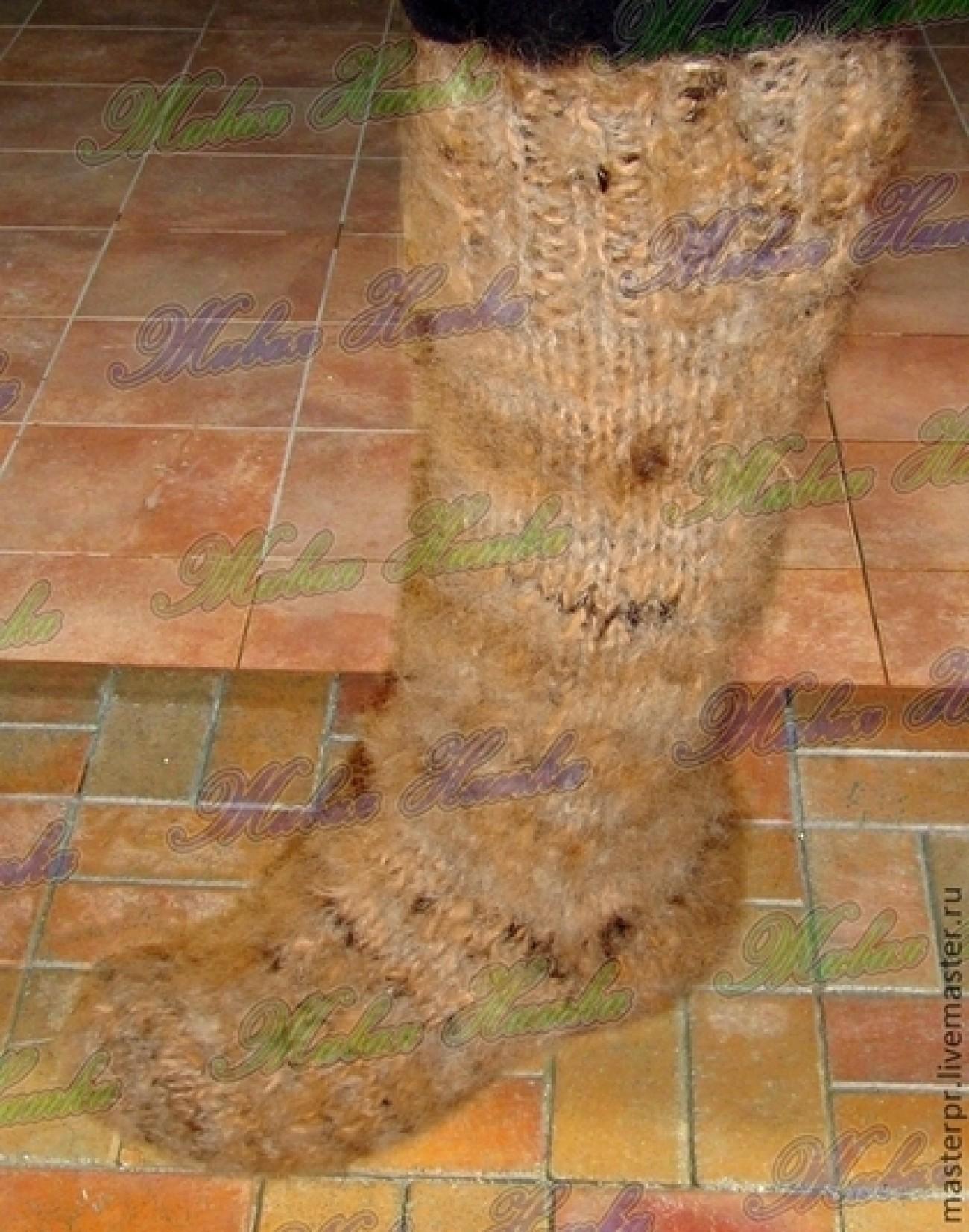 Носки теплые толстые из собачьей шерсти домашние