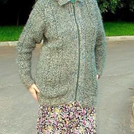 Жакет женский вязанный из собачьего пуха(собачья шерсть)