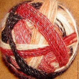 Пряжа «Радуга-1» дизайнерская для ручного вязания из собачьей шерсти.