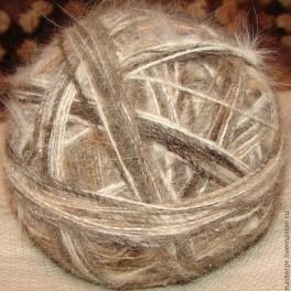 Пряжа «Пушистый Сторож» для ручного вязания из пуха московской сторожевой .
