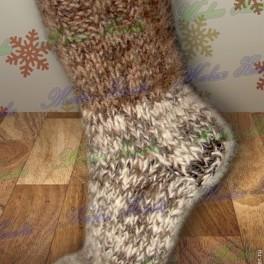 Носки теплые вязанные арт. №24м из собачьей шерсти