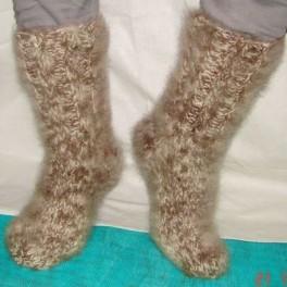 Носки теплые вязанные арт. №27м из собачьего пуха