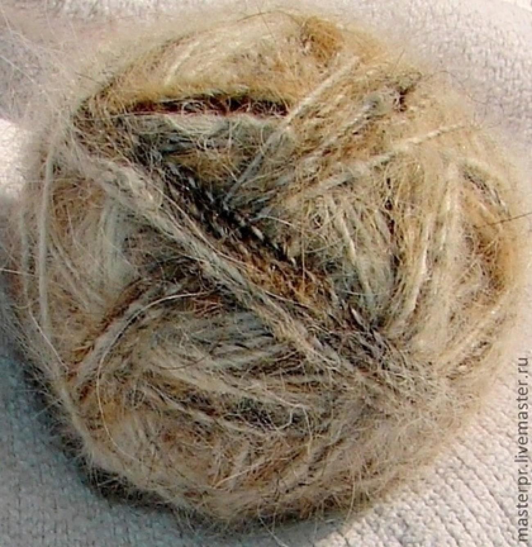 Пряжа для вязания крючком одинарная нитка(из собачьей шерсти)