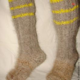 Носки-гольфы пуховые толстые арт№54м из собачьей шерсти