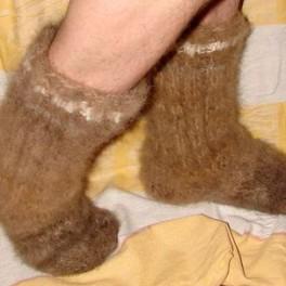 Носки супертолстые из собачьей шерсти (артикул 52 м)