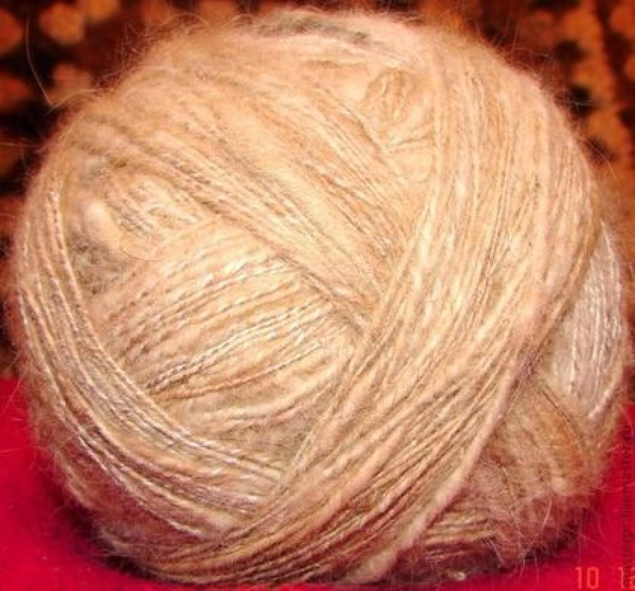 Пряжа «Тервюрен» ручного прядения из собачьей шерсти