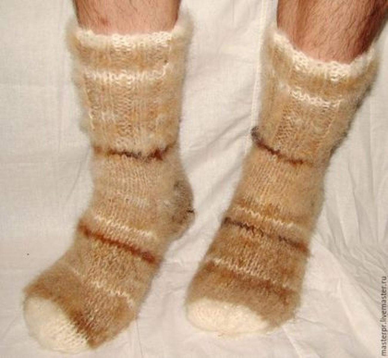 Носки «Ацтек» пуховые толстые арт№99м из собачьей шерсти