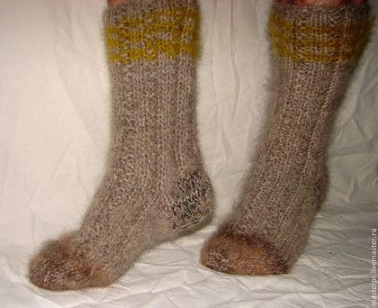 Носки пуховые толстые арт№55м из собачьей шерсти