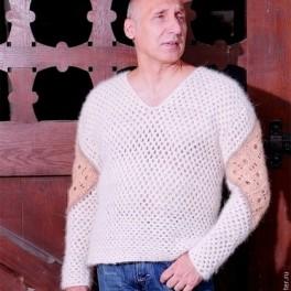 Пуловер «Витязь» из собачьей шерсти.Ручная работа.Эксклюзив.