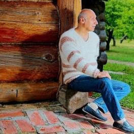 Пуловер мужской «Деревенское Утро» из собачьей шерсти