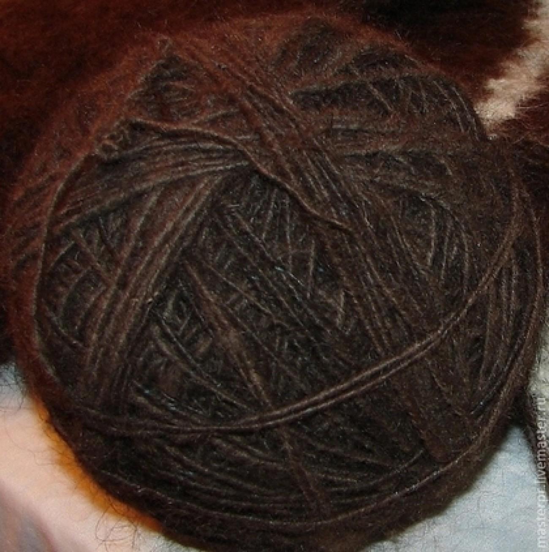 Пряжа «Черный Лохматуля» из собачьей шерсти
