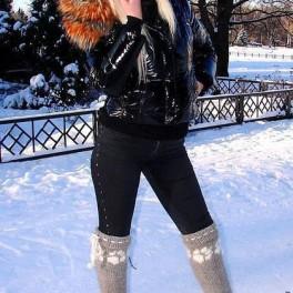 Гетры женские теплые вязанные арт. №16ж из собачьей шерсти.