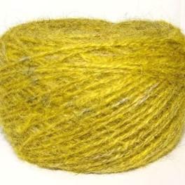 Пряжа «БШС желтый меланж» 145м/100гр из собачьей шерсти