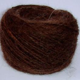 Пряжа «Пушистый Спасатель» коричневый из пуха сенбернара 210м100гр