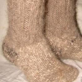 Носки пуховые Зимняя Прогулка2 из собачьей шерсти