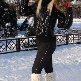 Гетры женские теплые вязанные арт. №17ж из собачьей шерсти