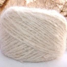 Пряжа «Белый Пушистик160м100гр» из пуха самоедской лайки