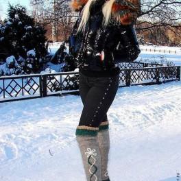 Гетры женские теплые вязанные артикул №01ж ручного вязания .