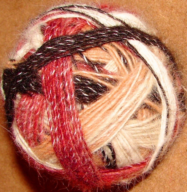 Пряжа пуховая «Радуга-1» дизайнерская  для ручного вязания .