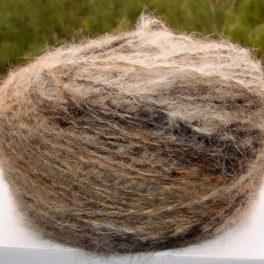 Пряжа меланж «Осень золотая пушистая» 190м100грамм из собачьей шерсти.