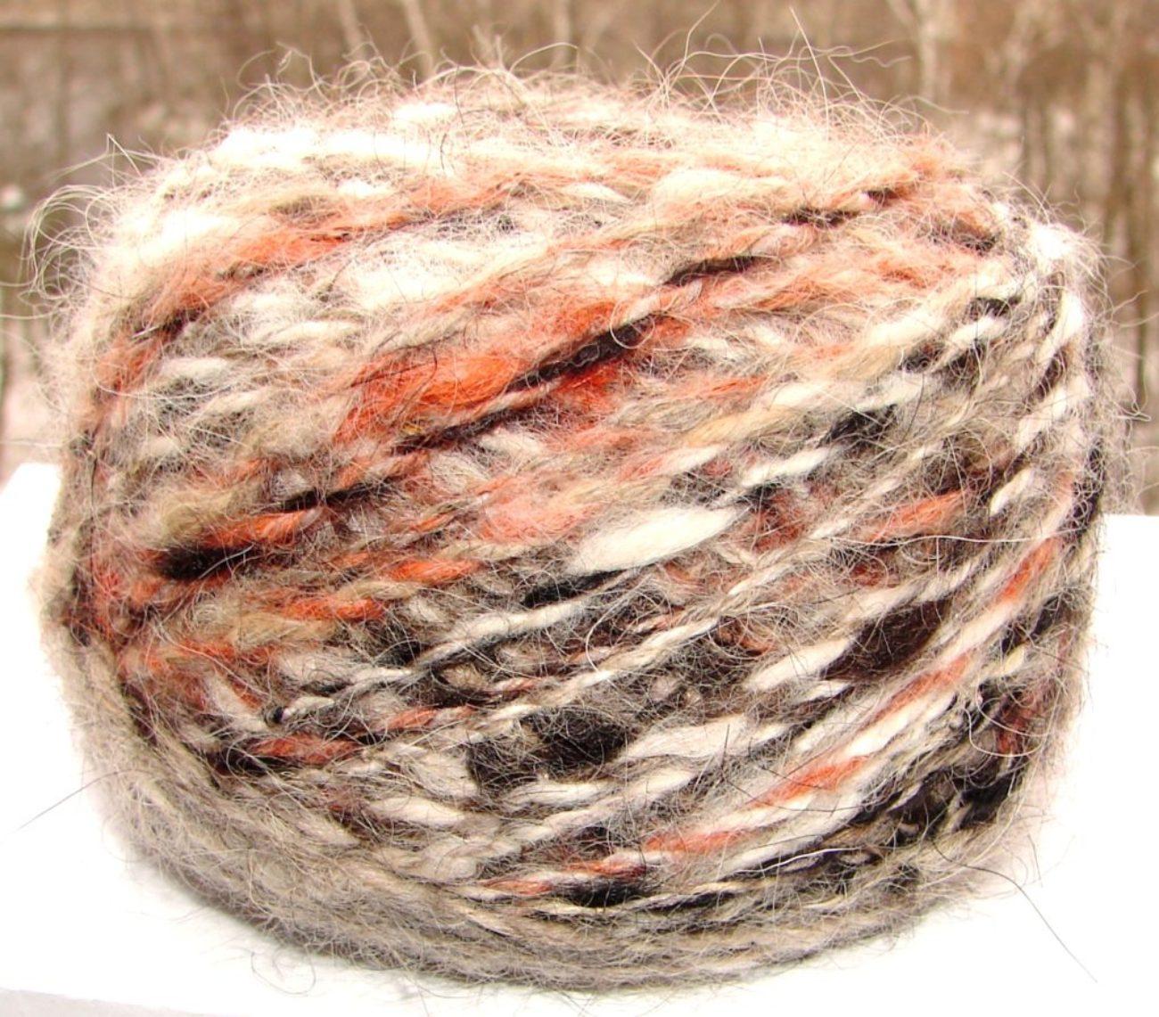 Пряжа пуховая «Радуга-2» дизайнерская    для ручного вязания 130м 100гр.